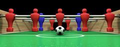 foosball table one team - stock illustration