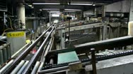 Synthetic rubber production line Stock Footage