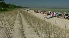 Glowe Beach on Rügen Island - Baltic Sea, Northern Germany Stock Footage