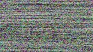 Stock Video Footage of TV Noise 03 crazy