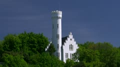 Fairytale Castle on Rügen Island - Baltic Sea, Northern Germany Stock Footage