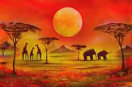 Stock Illustration of picture with spray painted. africa