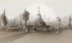 Thai Temple Stock Illustration