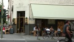 Berlin Cafe in Summer Stock Footage