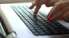 Hands and keyboard Stock Footage
