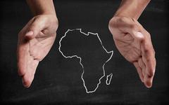 Support africa Stock Illustration