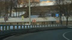 Car driving into tunnel Stock Footage