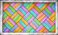 Color wooden parquet background Stock Photos