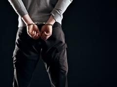 punishment for his crime - stock photo