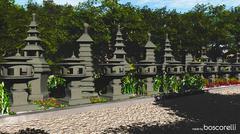 3d model of Japanese Stone Lanterns