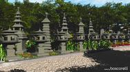 3d model of Japanese Stone Lanterns
