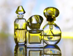 Perfume assortment Stock Photos