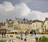 On the streets of chartres.  france Stock Photos