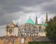 Cathedral of chartres. christmas, france Stock Photos