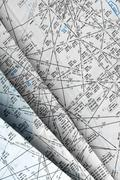 Stock Photo of aeronautical navigation chart