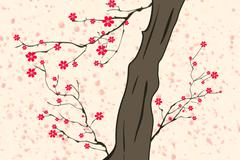 Cherry Blossoming 5 HR - stock illustration