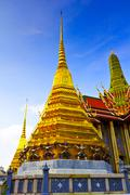 Golden Pagoda in Emerald Temple Stock Photos