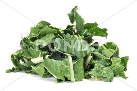 Stock photo of chopped raw chards
