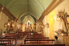church in pisco elqui - stock photo