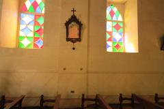 church in pisco elqui - stock photo