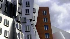 MIT Stata Center - Unusual architecture by Frank Gehry - stock footage