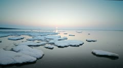Ice at sea Stock Footage