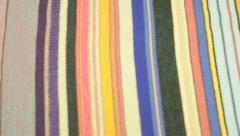 Long Textile Colour Stock Footage