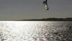 Kitesurfing on Rügen Island - Baltic Sea, Northern Germany Stock Footage