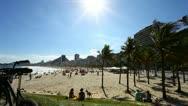 Copacabana Beach, Rio de Janeiro Stock Footage