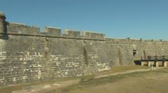 Castillo de San Marcos Clip 2 Stock Footage
