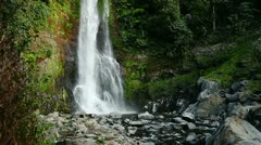 1920x1080 video - mountain waterfall in rainforest - stock footage