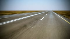 Loopable endless road animation. Low shot. - stock footage