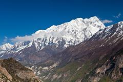 annapurna mountain, himalaya - stock photo