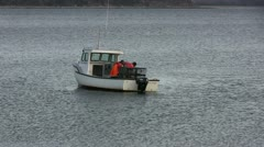 Lobster Boat Stock Footage