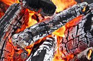 Campfire close up Stock Photos