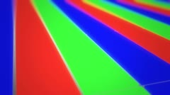 RGB screen closeup to far shot animation. Stock Footage