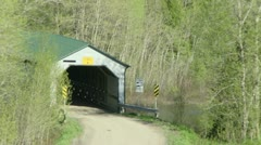 Pont couvert Stock Footage