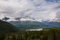 Mountains on alaska Stock Photos