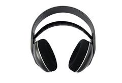 hi-fi wireless headphones isolated - stock photo