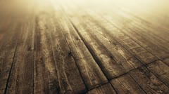 Wood planks loopable background animation. Stock Footage