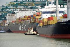 Container ships Stock Photos