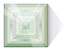 Abstraction with glass pyramid. Stock Illustration