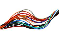 Bright cables isolated Stock Photos