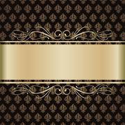 Background with gold lilies Stock Illustration