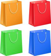 paper bags - stock illustration