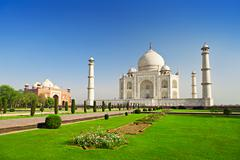 taj mahal, agra - stock photo