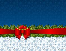 christmas holly background - stock illustration