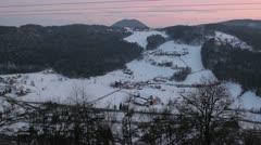 Slovenia landscape [Velenje cityscape]  Stock Footage