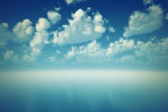 tranquil blue ocean - stock photo