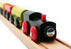 Isolated toy train Stock Photos